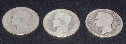 Monedas De Dos Bolívares Plata Venezuela --