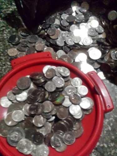 Monedas De Níquel Año 89 Y .y 5 Bolívares