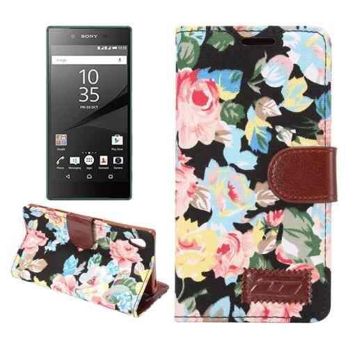 Estuche Para Sony Funda Cuero Diseño Flor Tela D7ds