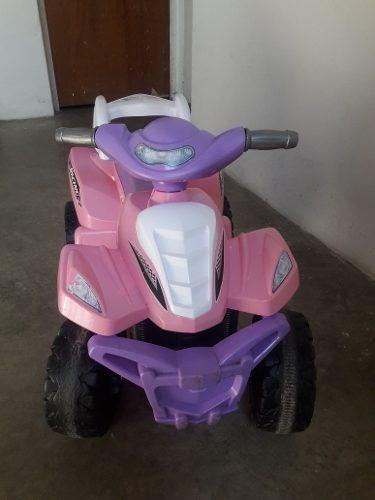 Moto De Bateria Para Niña 4 Ruedas