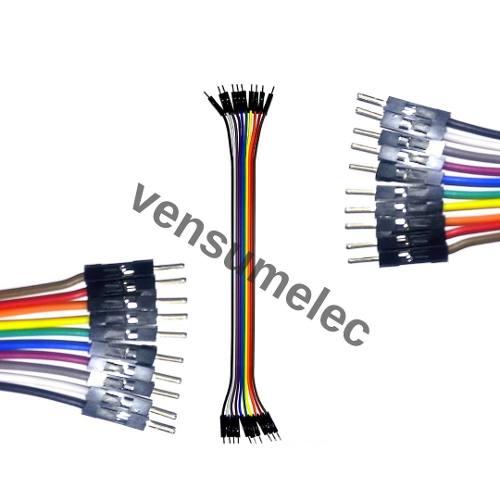 Cable Dupont 20cm Macho A Macho, Precio X 10 Cables