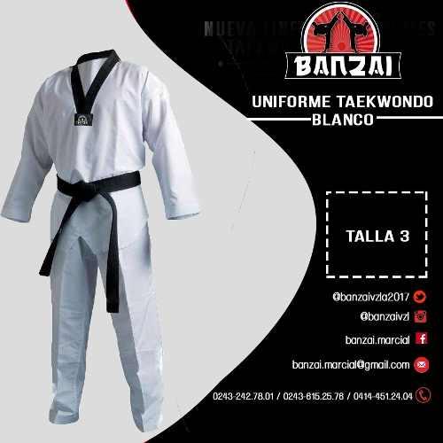 Uniforme Taekwondo Profesional Banzai Talla 3