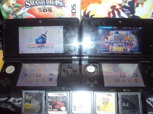 2 Nintendo 3ds Con Juegos Chipeadas Rematando Negociable