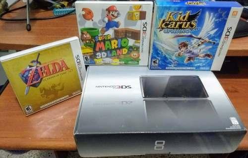 Consola Nintendo 3ds Con Juegos, Super Mario, Zelda, Kiu