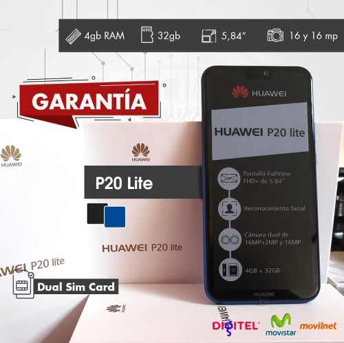 Huawei P20 Lite Nuevos De Paquete + 2 Meses De Garantia!!