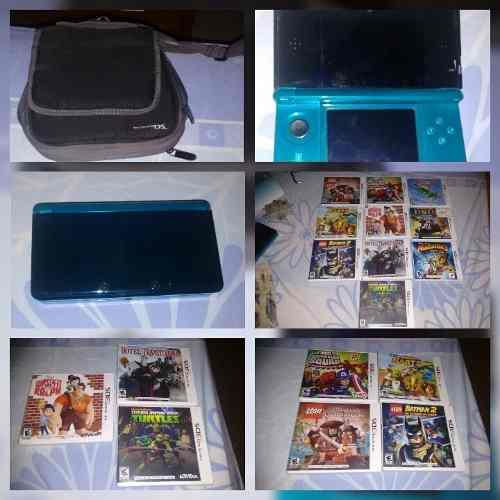 Nintendo 3ds Con 10 Juegos Originales + Bolso