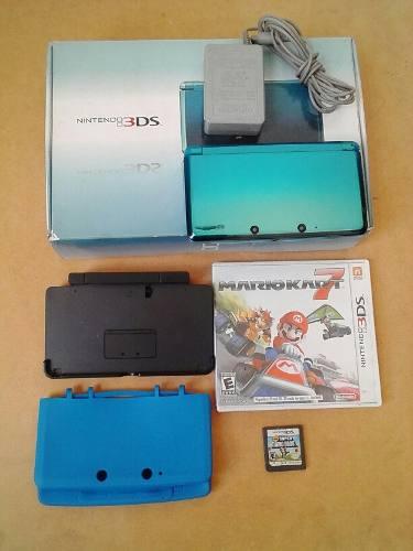Nintendo 3ds Con 2 Juegos Originales Y Accesorios