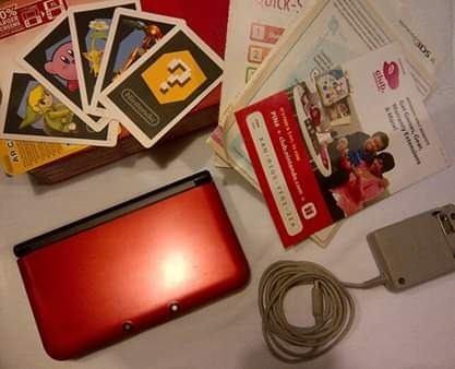 Nintendo 3ds Xl Rojo En Caja Con 5 Juegos