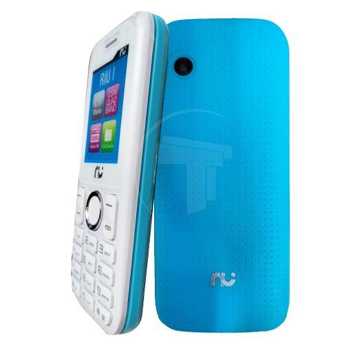 Teléfono Celular Dual Sim Riu Celulares Color Blanco Azul