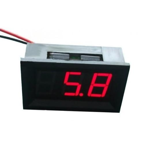 Medidor Digital Voltimetro Panel Led Carro 30v Lcd Rojo
