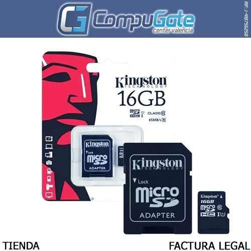 Memoria Micro Sd Hc 16gb Kingston Canvas Original Sellada