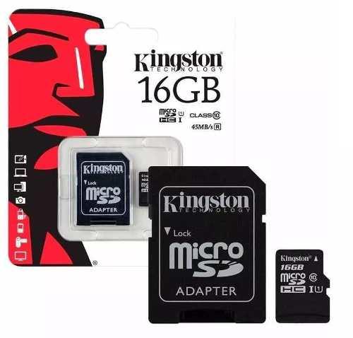 Memoria Micro Sd+adaptador 16 Gb Kingston