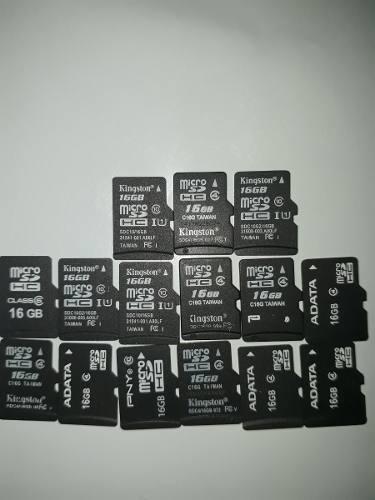 Memorias Micro Sd De 16gb Clase % Originales