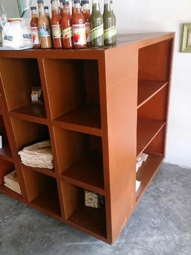 Mueble Estante Exhibidor De Madera