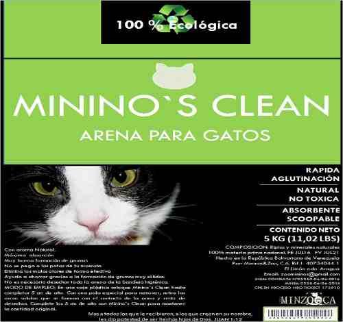 Arena Para Gatos Mininos Clean X Kilo