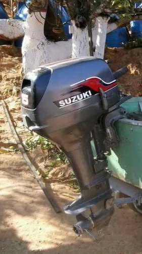 Bote Aluminio 12 Pies Con Motor 15 Suzuki