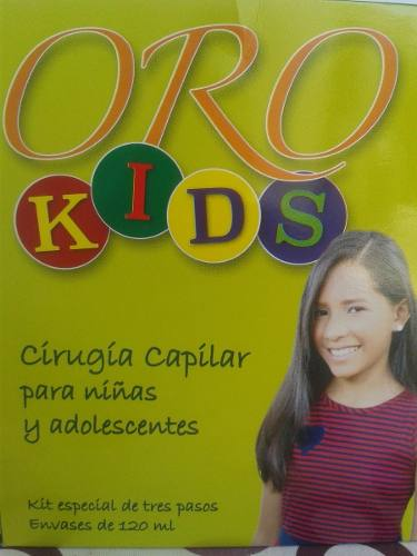 Cirugia Capilar Oro Kids Niñas Adolescentes Original