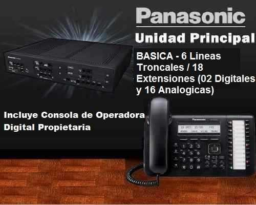 Central Telefonica Panasonic Kx-ns500 6 Lineas 18 Extensione