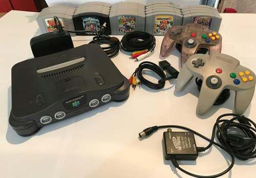 Nintendo 64 2 Controles 23 Juegos Y Cables