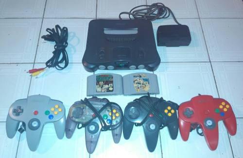 Nintendo 64 + 4 Controles + 2 Juegos