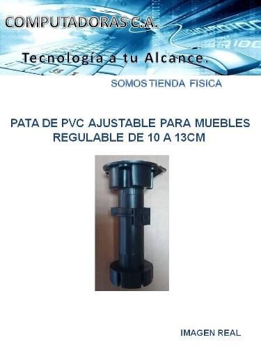 Pata De Pvc Ajustable Para Muebles Regulable De 10 A 13cm