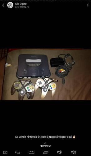 Se Vende Nintendo 64 Con 6 Juegos