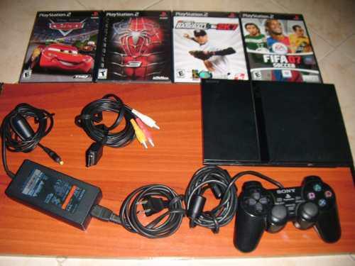Playstation 2 Usado, 1 Control, 4 Juegos