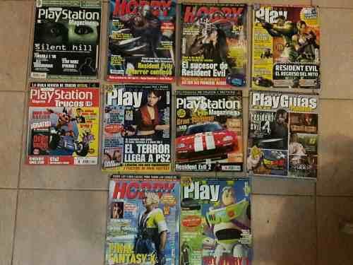 Playstation Resident Evil, Silent Hill, Dinocrisis Revistas