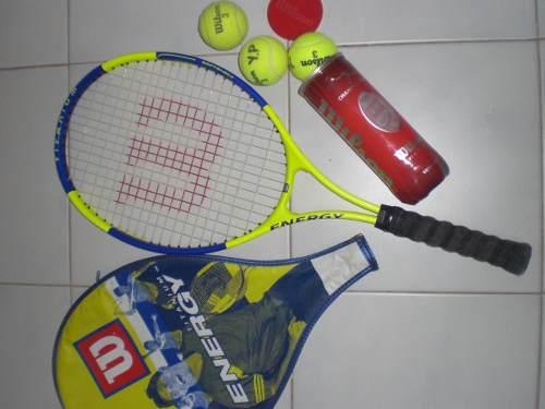 Raqueta De Tennis Wilson Y Pelotas