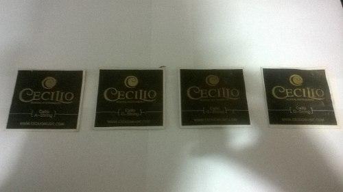 Set De Cuerda Para Violoncello 1/8 Importadas Marca: Cecilio
