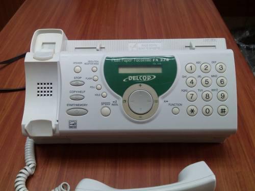 Telef Fax Fx 374 Delcop Combo De Fax Y 2 Rollos De Película