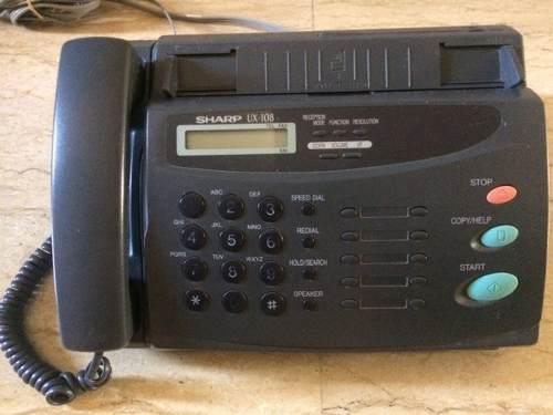 Telefono Fax Sharp Ux-108