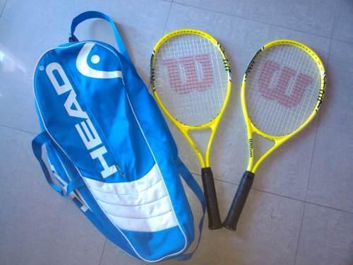 Vendo Combo De Raquetas De Tenis Wilson Y Bolso Head