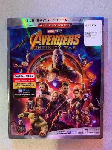 Avengers Infinity War Película Blu-ray Original Importado