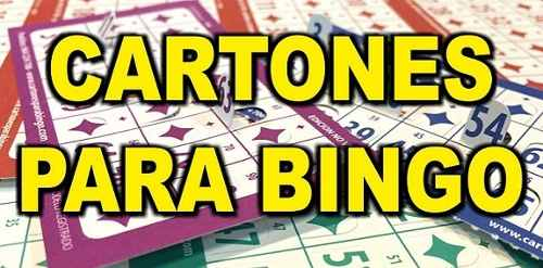 Cartones De Bingo Para Imprimir Pdf  Cartones