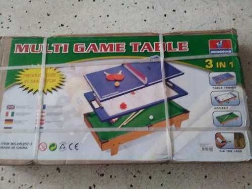 Mini Tabla De Juegos 3 X 1 / Pool, Hockey, Ping Pong