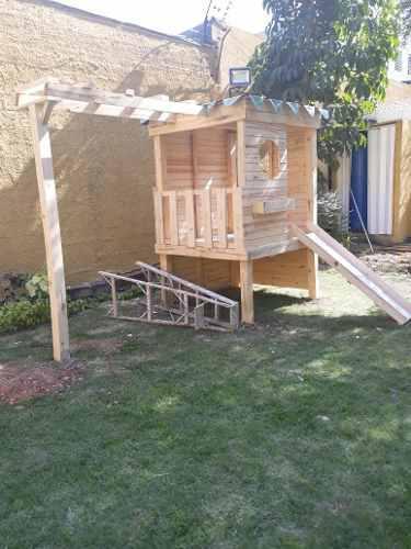 Casa De Madera Jardin Para Niños