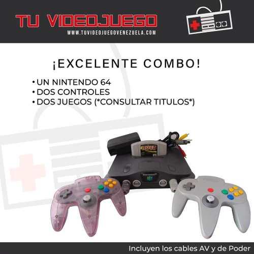 Excelente Combo! Nintendo 64 + 2 Controles + 2 Juegos
