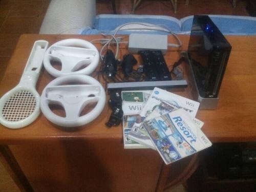 Nintendo Wii Negro En Excelentes Condiciones