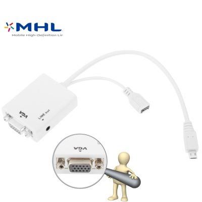Cable Cargador Adaptador Video Audio Micro Usb Adaptad Ujjk