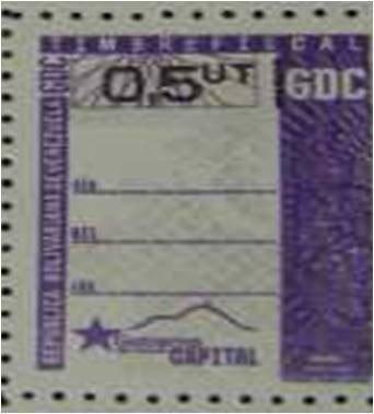 Timbres Fiscales 0.5 Distrito Capital