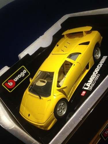 Carro De Colección Lamborghini Diablo Marca Burago 1/18