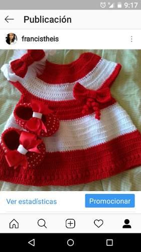 Vestido Tejido A Crochet De 0 A 3 Meses 32 Mil Soberanos
