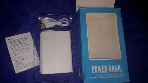 Cargador Portátil Power Bank 10000 Mah Con 2 Entradas Usb