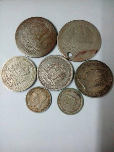 Combo Monedas De Plata De 2 Y 1 Bs