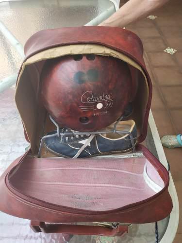 Pelota De Bowling + Estuche + Zapatos