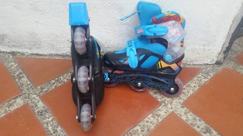 Patines Lineales Hot Wheels, Usados, Ajustables De 28 A 31