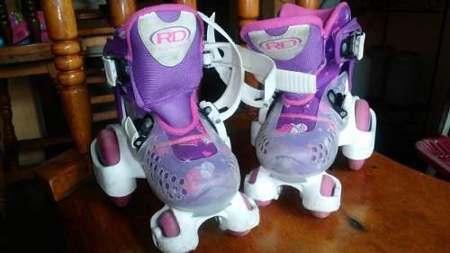 Patines Roller Derby Para Niña Talla 7-11