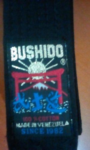 Cinturón Negro Karate Juvenil Bushido Talla cm Nuevo