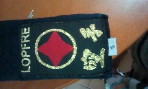 Cinturón Negro Karate Lopfree Talla cm Largo Nuevo